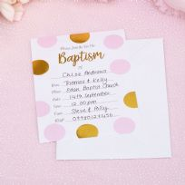 Pattern Works Pink Baptism Invitations (10)